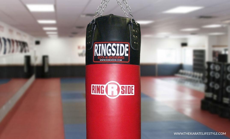 Punching Bag Free Standing Cardio Kickboxing Martial Arts Training Bag Red